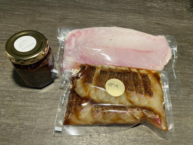 鯛一筋 鯛のお刺身、鯛わら焼き、地魚佃煮セット